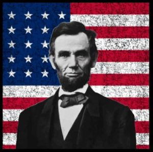 president_lincoln_and_the_american_flag